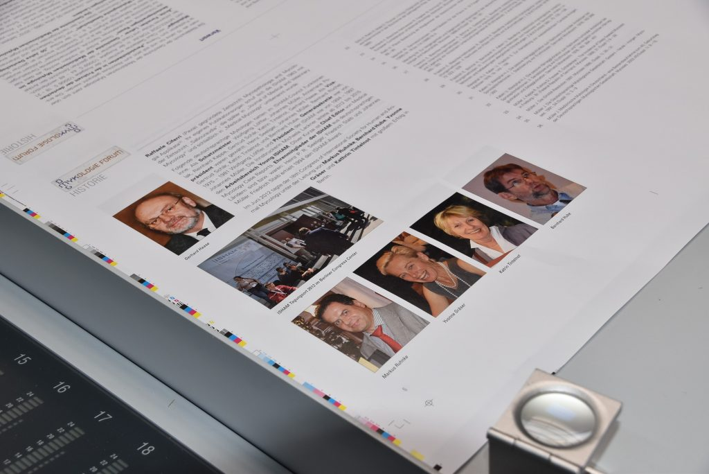 Die ersten Bögen sind gedruckt. Alle Ausgaben des Mykologie Forums wurden seit dem Jahr 2000 bei Preuss gedruckt.