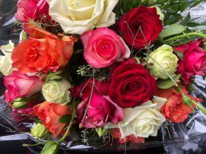 Blumenstrauß für Frau Plempel