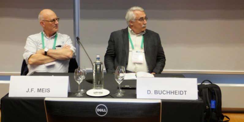 """Die Vorsitzenden des Symposium """"From Basic Science to Patient Care"""", Jacques Meis, Dieter Buchheidt"""