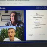 Prof. Ruhnke mit Andreas Ebert
