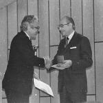Prof. Otto Hornstein (li.), Prof. Hans Götz (re).