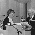 Verleihung des Gustav-Riehl-Preises durch Frau Prof. Helge Hauck an Herrn Prof. Ferdinand Fegeler